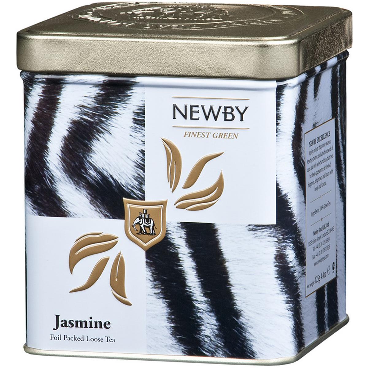 Newby Jasmine Blossom Safari зеленый листовой чай, 125 г132090Китайский листовой чай Newby Jasmine Blossom Safari с ароматом цветов жасмина. Имеет светло-медовый оттенок и ароматное цветочное послевкусие.