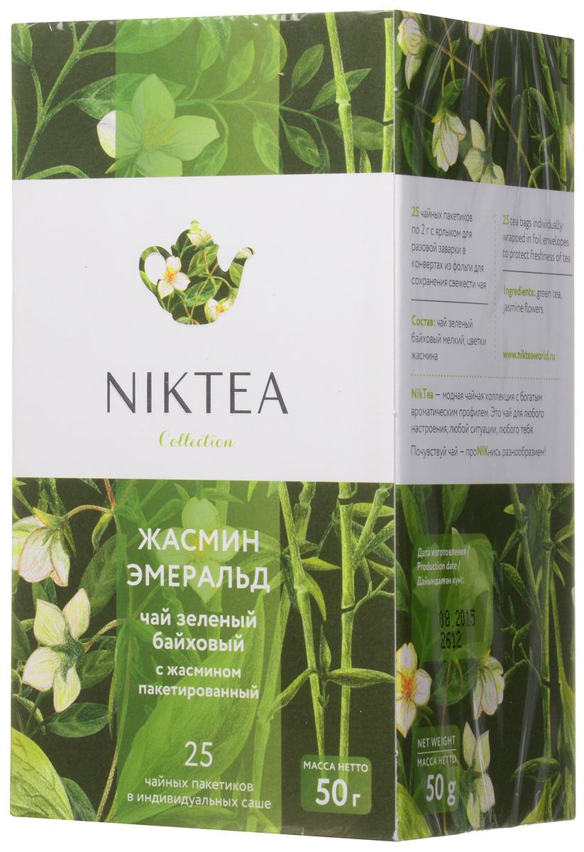 Niktea Jasmine Emerald чай зеленый в пакетиках, 25 штTALTHA-DP0043Niktea Jasmine Emerald - воздушный зеленый чай с белоснежными лепестками летнего жасмина и элегантным чувственным ароматом. Полезен благодаря содержанию эфирных масел. Коллекция NikTea разработана командой экспертов, имеющих богатый опыт в чайной индустрии. Во время ее создания выбирались самые надежные поставщики из Европы и стран происхождения чая, а в линейку включили не только топовые аутентичные позиции, но и новые интересные рецептуры в традициях современной чайной миксологии. NikTea - это действительно качественный чай. Для истинных ценителей мы предлагаем безупречное качество: отборное сырье, фасовку на высокотехнологичном производственном комплексе в России, постоянный педантичный контроль готового продукта, а также сертификацию сырья по международным стандартам. NikTea - это разнообразие. В линейках листового и пакетированного чая представлены все основные группы вкусов - от классического черного и зеленого чая до...