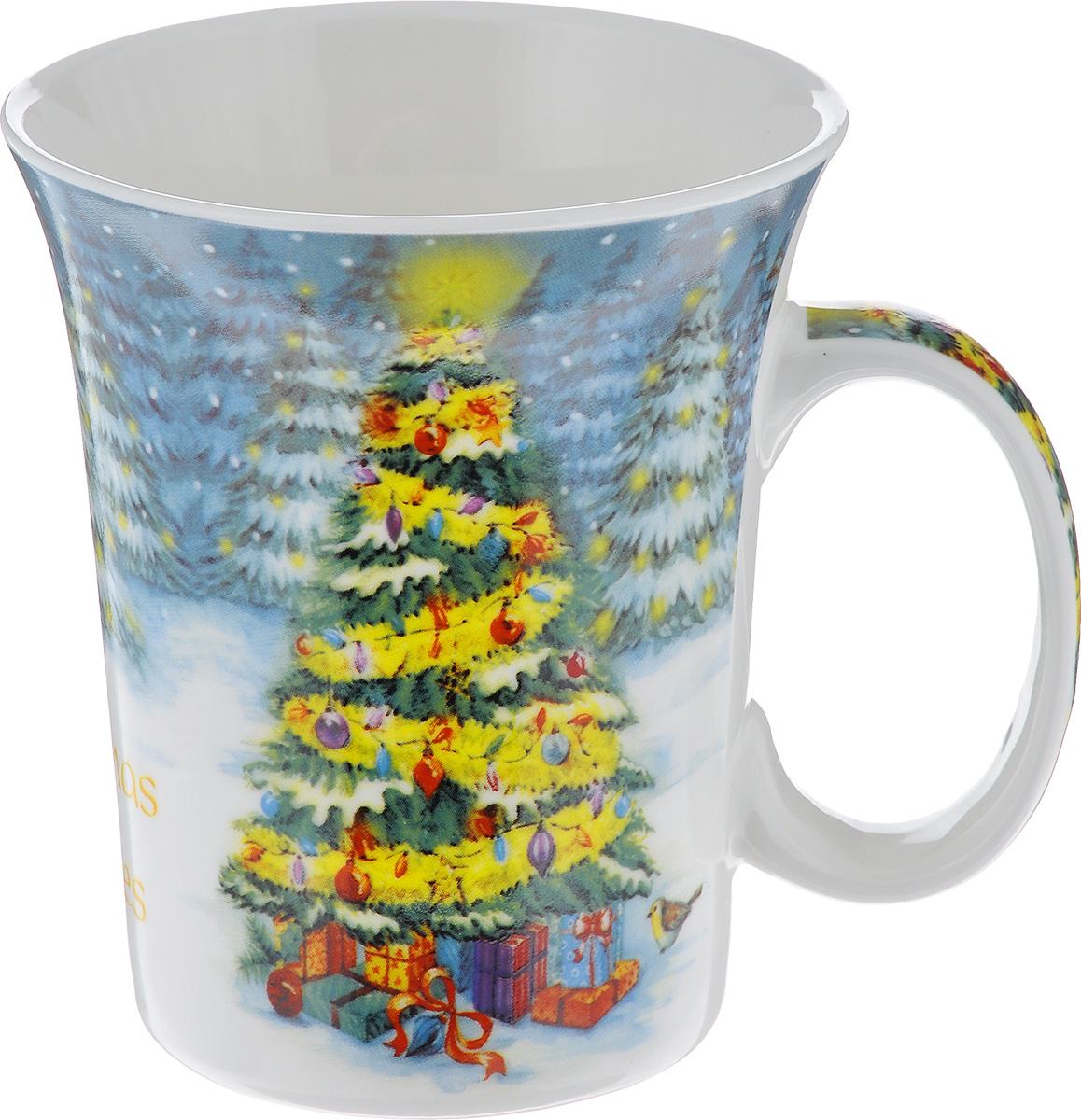 Кружка Lillo Елочка, цвет: желтый, белый, серый, 350 мл216041_елочкаКружка Lillo Елочка выполнена из высококачественной керамики и оформлена красочным изображением новогодней ели и надписью. Такая кружка сделает чаепитие еще приятнее и позволит почувствовать волшебство новогодних праздников. Может послужить приятным и практичным сувениром. Диаметр чашки по верхнему краю: 8 см. Высота чашки: 10 см. Объем чашки: 350 мл.