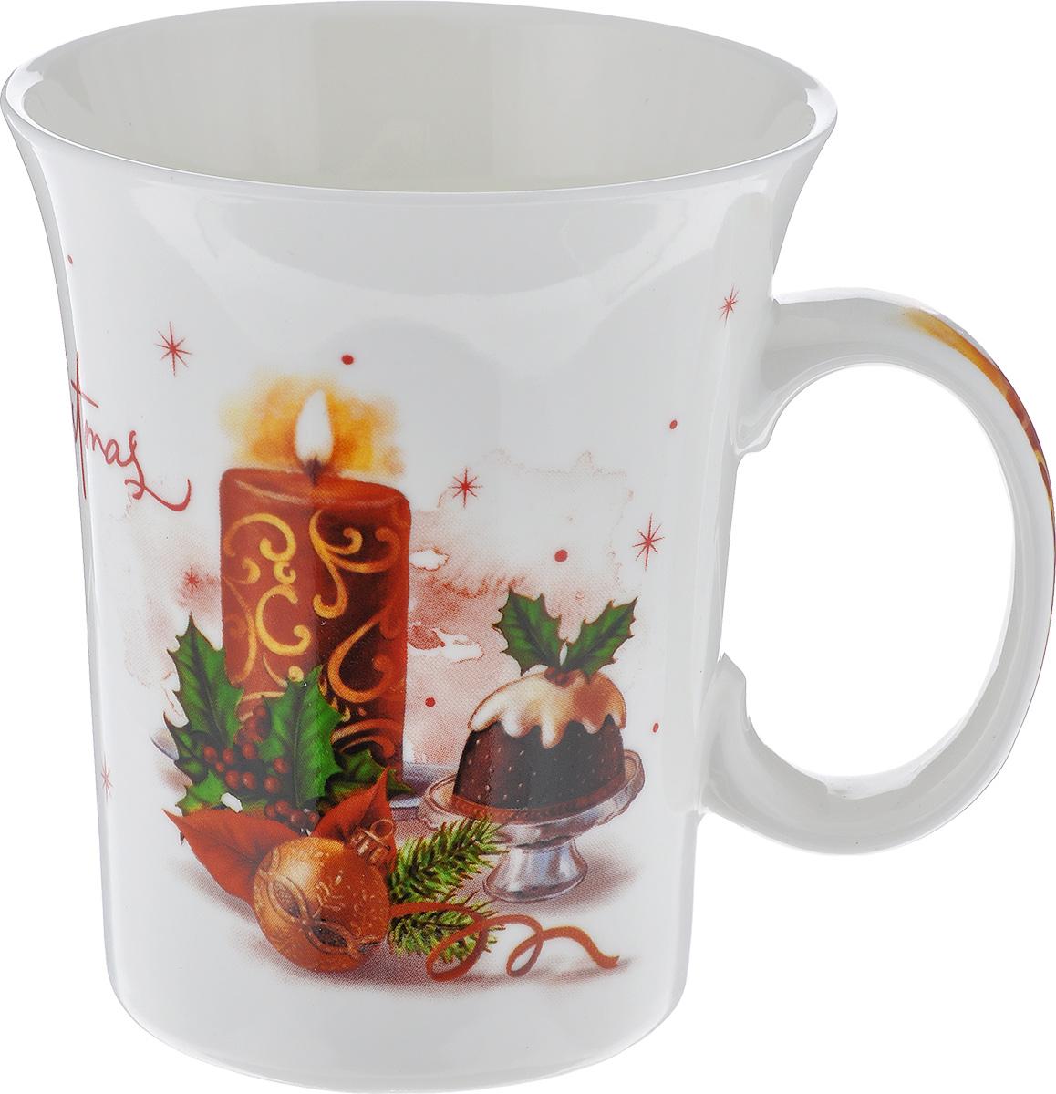Кружка Lillo Свеча, цвет: красный, белый, коричневый, 350 мл216041_свечаКружка новогодняя Lillo Свеча выполнена из высококачественной керамики и оформлена красочными изображениями в новогодней тематике и надписью. Такая кружка сделает чаепитие еще приятнее и позволит почувствовать волшебство новогодних праздников. Может послужить приятным и практичным сувениром. Диаметр чашки по верхнему краю: 8 см. Высота чашки: 10 см. Объем чашки: 350 мл.