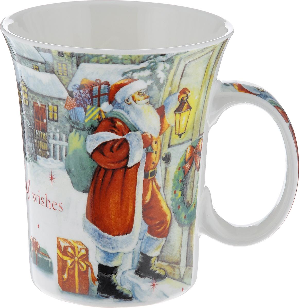 Кружка Lillo Дед Мороз, цвет: красный, белый, серый, 350 мл216041_Дед МорозКружка Lillo Дед Мороз выполнена из высококачественной керамики и оформлена красочными изображениями Деда Мороза на заснеженной улочке. Такая кружка сделает чаепитие еще приятнее и позволит почувствовать волшебство новогодних праздников. Может послужить приятным и практичным сувениром. Диаметр чашки по верхнему краю: 8 см. Высота чашки: 10 см. Объем чашки: 350 мл.