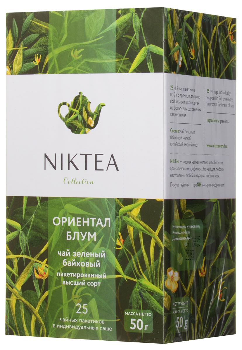 Niktea Oriental Bloom чай зеленый в пакетиках, 25 штTALTHA-DP0035Niktea Oriental Bloom - пикантный зеленый чай с утонченным, минерально-травянистым букетом и легкими ореховыми тонами в послевкусии. Непременное сопровождение блюд восточной кухни. Коллекция NikTea разработана командой экспертов, имеющих богатый опыт в чайной индустрии. Во время ее создания выбирались самые надежные поставщики из Европы и стран происхождения чая, а в линейку включили не только топовые аутентичные позиции, но и новые интересные рецептуры в традициях современной чайной миксологии. NikTea - это действительно качественный чай. Для истинных ценителей мы предлагаем безупречное качество: отборное сырье, фасовку на высокотехнологичном производственном комплексе в России, постоянный педантичный контроль готового продукта, а также сертификацию сырья по международным стандартам. NikTea - это разнообразие. В линейках листового и пакетированного чая представлены все основные группы вкусов - от классического черного и зеленого чая...
