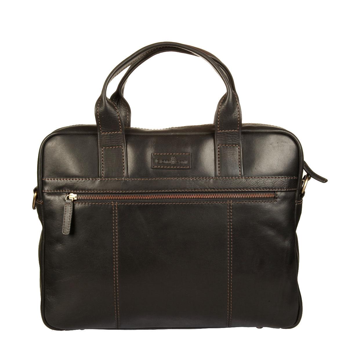 Бизнес-сумка мужская Gianni Conti, цвет: черный. 12212661221266 blackМужская бизнес-сумка Gianni Conti выполнена из натуральной кожи и закрывается на металлическую застежку-молнию. Сумка состоит из одного вместительного отделения, внутри которого имеется прорезной карман на застежке-молнии, два накладных открытых кармана и мягкий карман для ноутбука. Снаружи, на передней стенке располагается накладной карман на застежке-молнии, на задней стенке - прорезной карман на застежке-молнии. Модель оснащена двумя ручками для переноски в руках. В комплект входит съемный плечевой ремень, регулируемый по длине. Изделие упаковано в фирменный текстильный чехол для хранения. Этот стильный аксессуар станет изысканным дополнением к вашему образу и отличным подарком!
