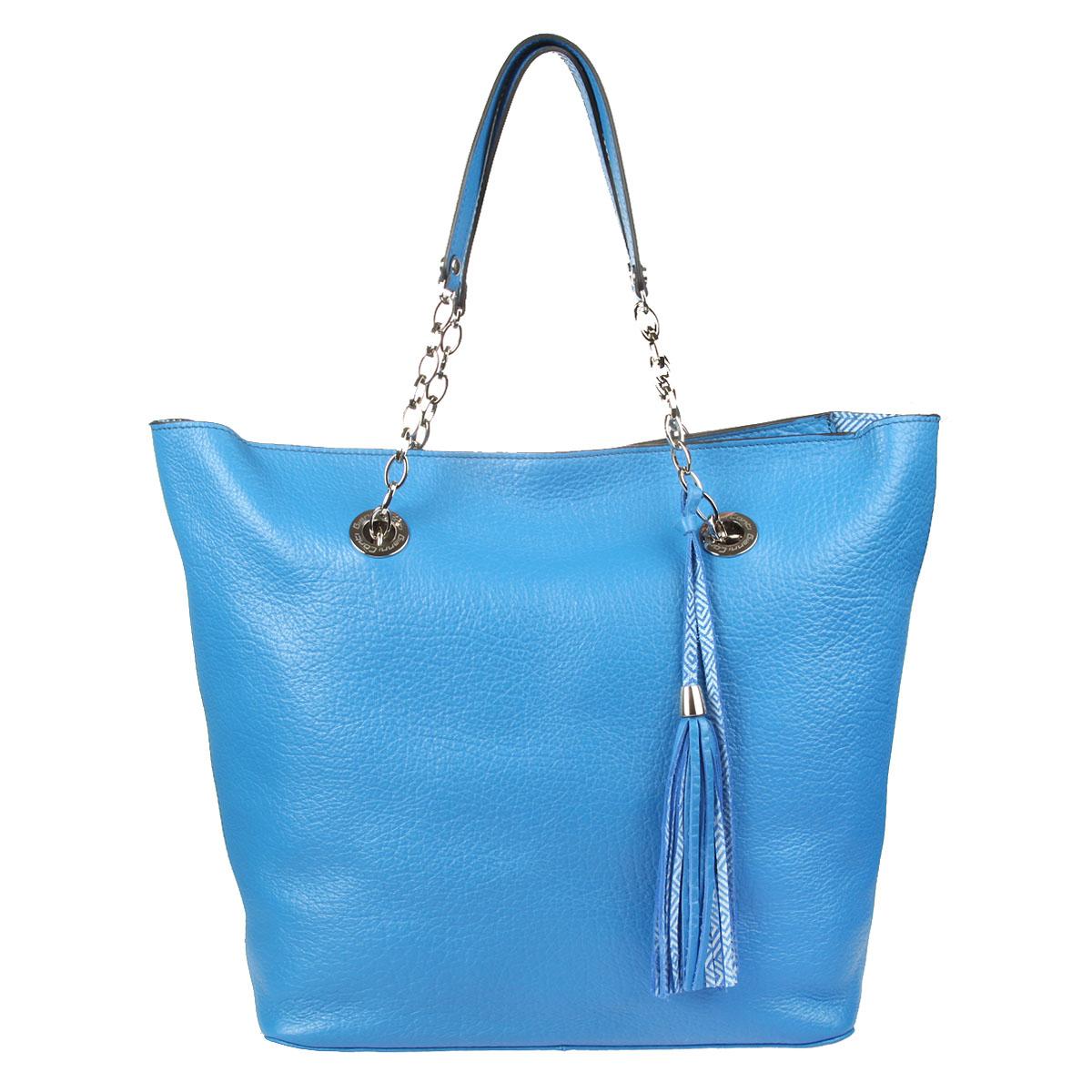 Сумка Gianni Conti жен., цвет: синий. 1543415 bluette1543415 bluetteзакрывается на молнию внутри большой отдел, в котором съемная косметичка на молнии
