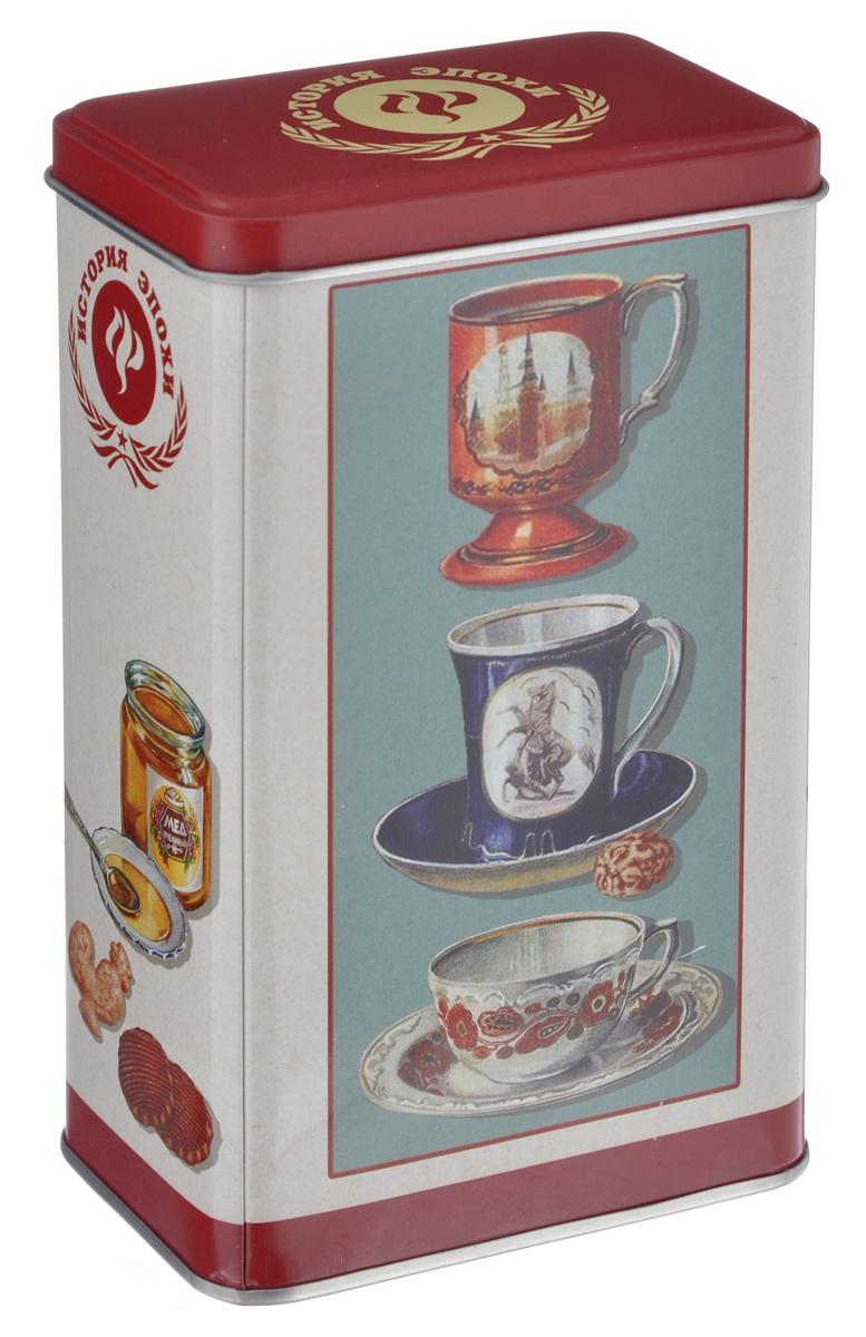Банка для сыпучих продуктов Феникс-Презент Чашки, 900 мл37615Банка для сыпучих продуктов Феникс-Презент Чашки, изготовленная из окрашенного черного металла, оформлена ярким рисунком. Банка прекрасно подойдет для хранения различных сыпучих продуктов: специй, чая, кофе, сахара, круп и многого другого. Емкость плотно закрывается крышкой. Благодаря этому она будет дольше сохранять свежесть ваших продуктов. Функциональная и вместительная, такая банка станет незаменимым аксессуаром на любой кухне. Нельзя мыть в посудомоечной машине. Объем банки: 900 мл. Высота банки (без учета крышки): 16 см. Размер банки (по верхнему краю): 9,5 см х 6 см.
