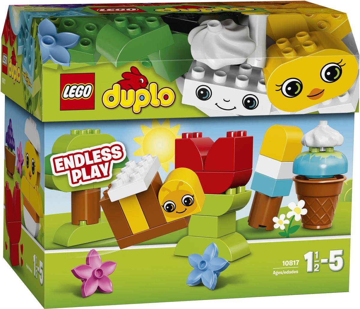 LEGO DUPLO Конструктор Времена года 1081710817Конструктор LEGO DUPLO Времена года  приведет в восторг любого ребенка, ведь все дети обожают знаменитые конструкторы LEGO. Конструктор содержит 70 пластиковых элементов. С помощью этого набора LEGO DUPLO маленькие строители могут заниматься творчеством в течение всего года; весной собрать цыплёнка, большое мороженое летом, красочное дерево осенью или снеговика зимой. В набор включены строительные карты и декорированные кубики, чтобы вдохновить ребёнка на создание простых моделей и развивать его воображение. Кубики LEGO DUPLO интересны и безопасны для маленьких ручек. С яркими цветными кубиками LEGO DUPLO, разработанными специально для начинающих строителей, так легко собрать свою историю. Все элементы набора выполнены из безопасного пластика и имеют увеличенные размеры, специально для маленьких детских пальчиков. Игры с конструкторами помогут ребенку развить воображение, внимательность, пространственное мышление и творческие способности. Такой...