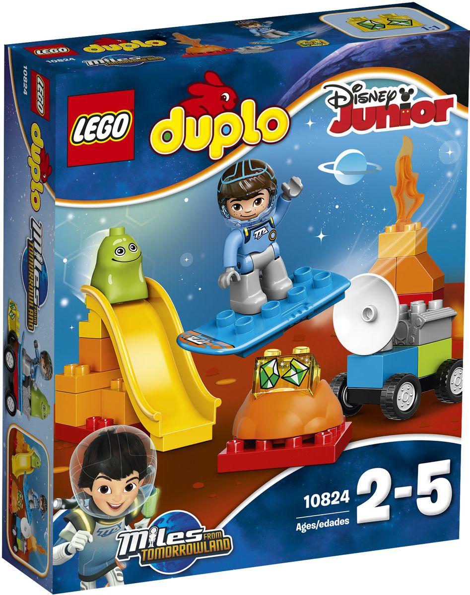 LEGO DUPLO Конструктор Космические приключения Майлза 1082410824Конструктор LEGO DUPLO Космические приключения Майлза приведет в восторг любого ребенка, ведь все дети обожают знаменитые конструкторы Lego. Конструктор содержит 23 пластиковых элемента. Маленьким астронавтам понравится персонаж Disney Майлз с Другой планеты. В открытом космосе тебя ждут неограниченные возможности для исследований и ролевых игр, а на горке можно повеселиться. Сборный вездеход и бластборд помогут юным исследователям каждый день придумывать собственные космические миссии с Майлзом! В набор входит фигурка LEGO DUPLO: Майлз и Блоджер Блоп. С яркими цветными кубиками LEGO DUPLO, разработанными специально для начинающих строителей, так легко собрать свою историю. Все элементы набора выполнены из безопасного пластика и имеют увеличенные размеры, специально для маленьких детских пальчиков. Игры с конструкторами помогут ребенку развить воображение, внимательность, пространственное мышление и творческие способности. Такой конструктор...