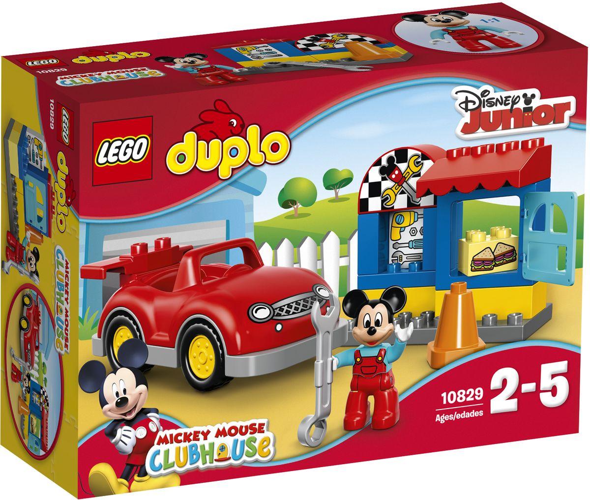 LEGO DUPLO Конструктор Мастерская Микки 1082910829Конструктор LEGO DUPLO Мастерская Микки приведет в восторг любого ребенка, ведь все дети обожают знаменитые конструкторы LEGO. Конструктор содержит 18 пластиковых элементов. Маленьким поклонникам Disney придутся по вкусу ролевые игры в мастерской Микки Мауса. С большой красной машиной можно играть часами, а специальные кубики, стилизованные под инструменты, сэндвичи и вывеску мастерской, помогут придумать свои истории. С яркими цветными кубиками LEGO DUPLO, разработанными специально для начинающих строителей, так легко собрать свою историю. В комплект входит фигурка Микки Мауса. Все элементы набора выполнены из безопасного пластика и имеют увеличенные размеры, специально для маленьких детских пальчиков. Игры с конструкторами помогут ребенку развить воображение, внимательность, пространственное мышление и творческие способности. Такой конструктор надолго займет внимание малыша и непременно станет его любимой игрушкой.