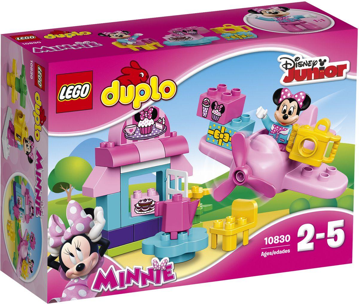 LEGO DUPLO Конструктор Кафе Минни 1083010830Конструктор LEGO DUPLO Кафе Минни приведет в восторг любую девочку, ведь все дети обожают знаменитые конструкторы LEGO. Конструктор содержит 27 пластиковых элементов. Маленьким поклонникам Disney понравится играть в милом кафе Минни! С элементами LEGO DUPLO, разработанными специально для начинающих строителей, так легко собрать свою историю. В набор входят стол и стул с чайником для ролевой игры, а также розовый самолет для доставки с вращающимся пропеллером. Специальные кубики, украшенные как торт, кексы и подарок, помогут юным игрокам придумать свои собственные истории. В набор входит фигурка Минни Маус. Все элементы набора выполнены из безопасного пластика и имеют увеличенные размеры, специально для маленьких детских пальчиков. Игры с конструкторами помогут ребенку развить воображение, внимательность, пространственное мышление и творческие способности. Такой конструктор надолго займет внимание малышки и непременно станет ее любимой игрушкой....
