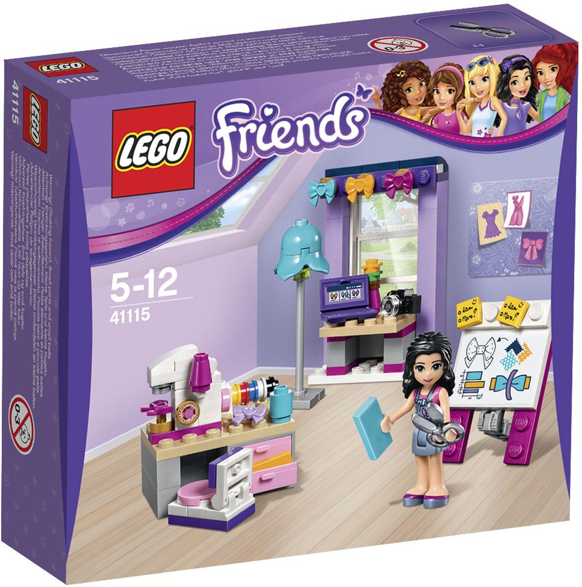 LEGO Friends Конструктор Творческая мастерская Эммы 4111541115Эмма делает красивые банты для волос и продает их в своем интернет-магазине. Рассмотрите выкройку на доске и используйте стикеры, чтобы предложить изменения или новые идеи. Пришло время для раскроя, но какой цвет подойдет для бантов лучше всего? Приступайте к работе со швейной машиной, чтобы помочь Эмме превратить свои проекты в готовые творения. А теперь ей нужно сфотографировать их и загрузить на свой веб-сайт. Набор включает в себя 108 разноцветных пластиковых элементов. Конструктор - это один из самых увлекательнейших и веселых способов времяпрепровождения. Ребенок сможет часами играть с конструктором, придумывая различные ситуации и истории.