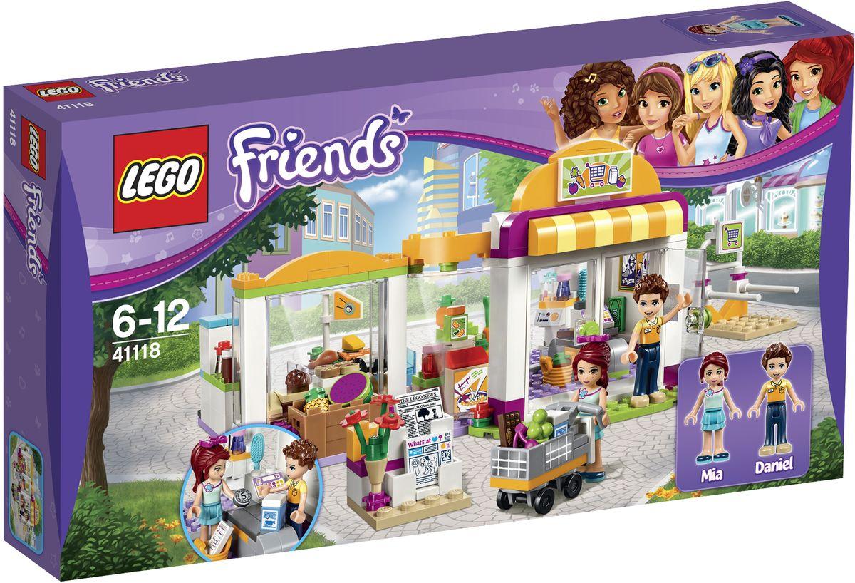 LEGO Friends Конструктор Супермаркет 4111841118Настало время для еженедельного шопинга Мии. Присоединяйтесь к ней в супермаркете Хартлейк Сити и захватите тележку с парковки. Пройдитесь между торговыми рядами супермаркета. Что купим сегодня? Купите свежие фрукты и овощи, зерновые завтраки и суши, прежде чем отправиться в кондитерский отдел, где вас ждет Даниэль с только что вынутым из духовки печеньем, которым он всех угощает. Не забудьте остановиться у стенда с косметикой, прежде чем идти к кассе! Набор включает в себя 313 разноцветных пластиковых элементов. Конструктор - это один из самых увлекательных и веселых способов времяпрепровождения. Ребенок сможет часами играть с конструктором, придумывая различные ситуации и истории.
