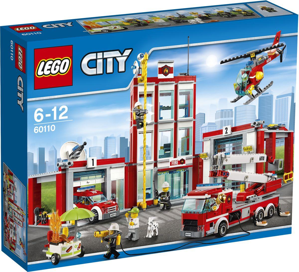 LEGO City Конструктор Пожарная часть 6011060110Помоги пожарным загрузить оборудование в грузовик и вертолёт! Пришло время обеда, так что съезжай вниз по шесту и отправляйся к киоску с хот-догами. По дороге брось косточку пожарному псу. О нет, киоск с хот-догами в огне! Вытяни пожарный шланг, потуши огонь с помощью специальной водяной пушки и спаси хот-доги! Конструктор LEGO City Пожарная часть - это один из самых увлекательнейших и веселых способов времяпрепровождения. Ребенок сможет часами играть с конструктором, придумывая различные ситуации и истории. В набор также входят 7 мини-фигурок: 5 пожарных, продавца хот-догов и собаки. В процессе игры с конструкторами LEGO дети приобретают и постигают такие необходимые навыки как познание, творчество, воображение. Обычные наблюдения за детьми показывают, что единственное, чему они с удовольствием посвящают время, - это игры. Игра - это состояние души, это веселый опыт познания реальности. Играя, дети создают собственные миры, осваивают их, а познавая -...