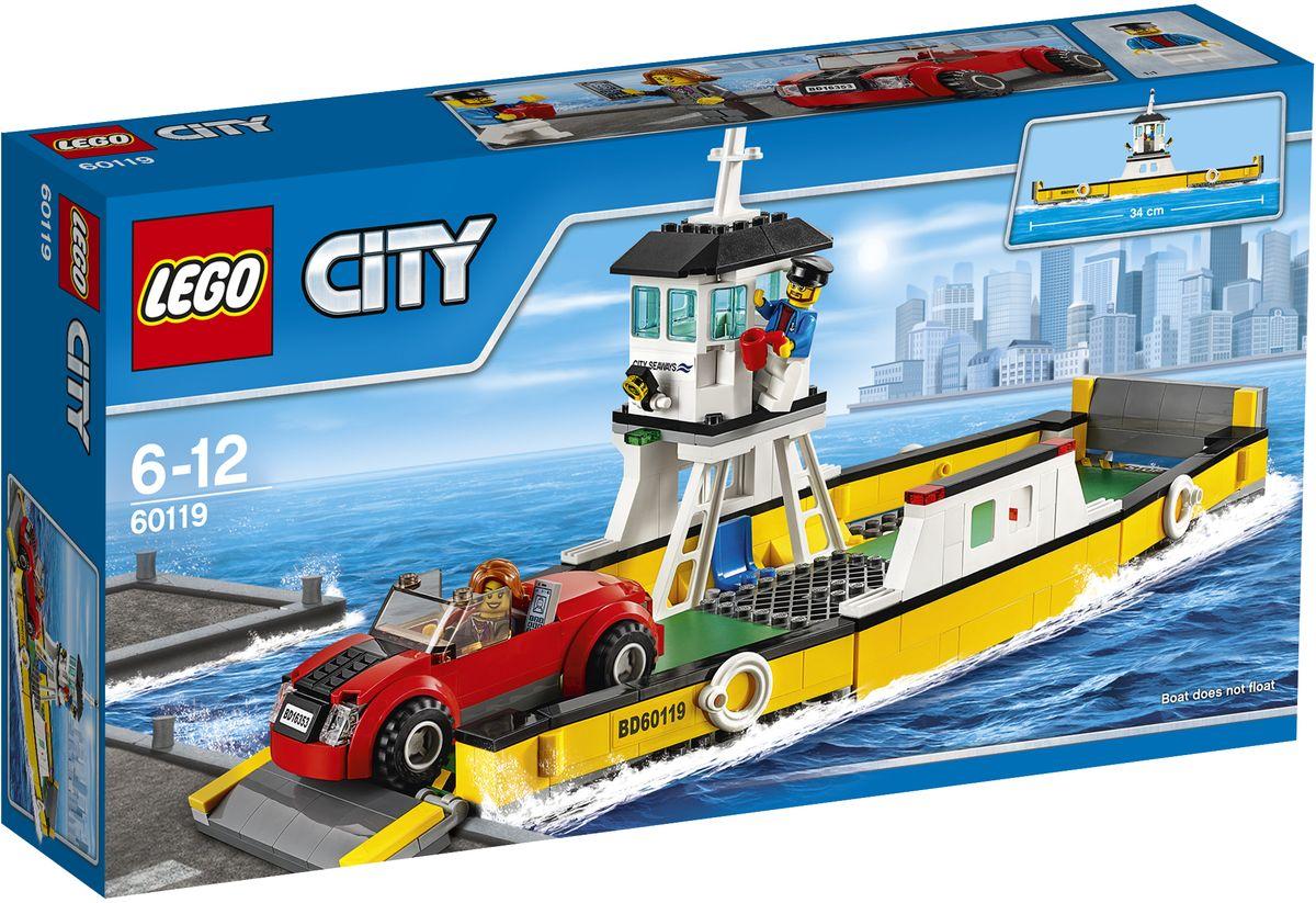 LEGO City Конструктор Паром 6011960119Готовься провести еще один захватывающий день в LEGO City! Садись в автомобиль и направляйся в порт. Опусти ворота и заезжай на паром, а затем помоги капитану отплыть от причала. Позвони и запланируй следующую деловую встречу, пока паром подплывает к пристани, а затем съезжай на берег и снова отправляйся в путь! Конструктор LEGO City Паром - это один из самых увлекательнейших и веселых способов времяпрепровождения. Ребенок сможет часами играть с конструктором, придумывая различные ситуации и истории. В набор также входят 2 мини-фигурки: капитана и водителя. В процессе игры с конструкторами LEGO дети приобретают и постигают такие необходимые навыки как познание, творчество, воображение. Обычные наблюдения за детьми показывают, что единственное, чему они с удовольствием посвящают время, - это игры. Игра - это состояние души, это веселый опыт познания реальности. Играя, дети создают собственные миры, осваивают их, а познавая - приобретают знания и умения. Фантазия...
