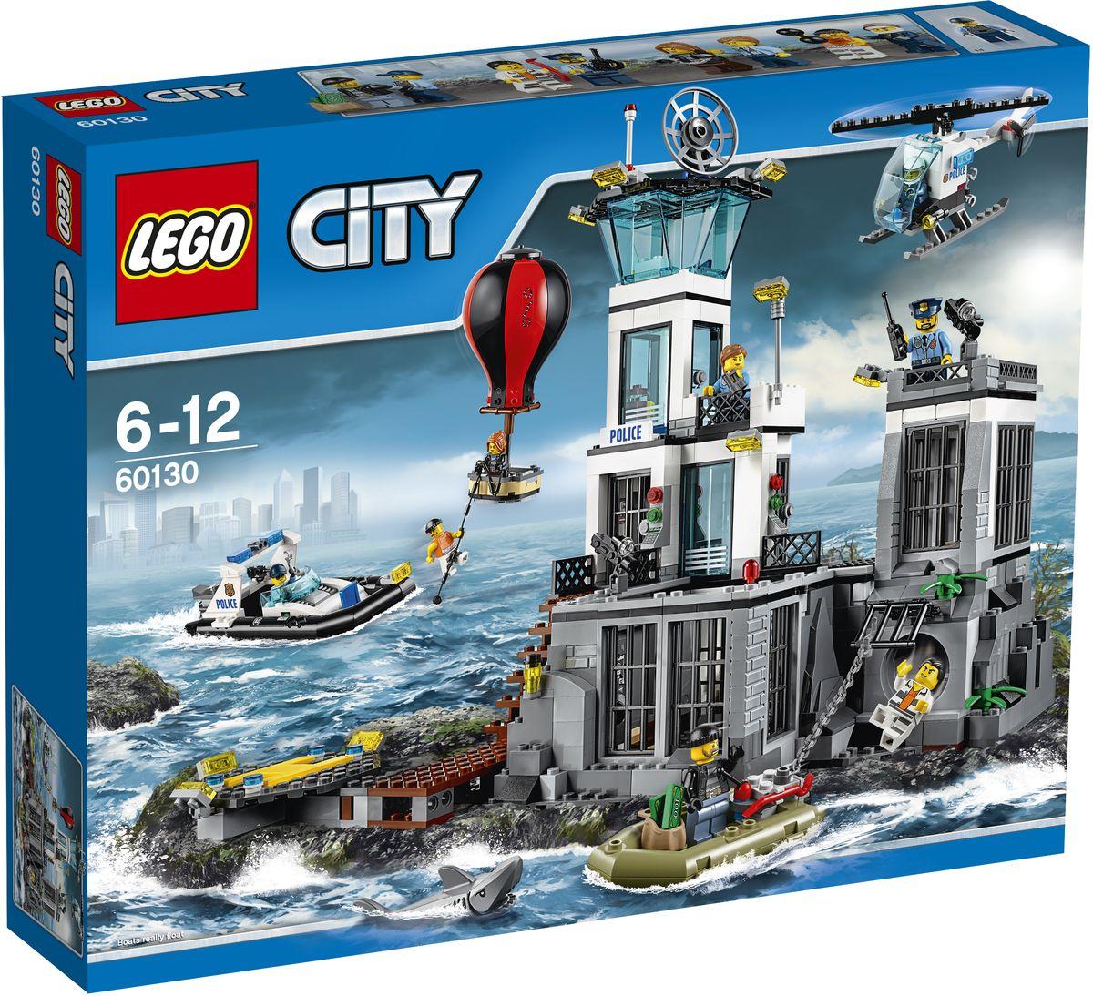 LEGO City Конструктор Остров-тюрьма 6013060130Помоги полиции не дать плохим парням улизнуть с острова-тюрьмы LEGO City! Следи за преступниками, которые работают в тюремном дворе. Чтобы увидеть, какие планы побега строят преступники, открой тюрьму. Ты и полиция должны быть в полной готовности, чтобы поймать преступников, которые пробираются по канализации к катеру, подготовленному для побега! Запрыгивай в вертолёт и не дай им сбежать на воздушном шаре. Они сделают всё, чтобы вырваться с Острова-тюрьмы! Рекомендуемы возраст: 6-12 лет.