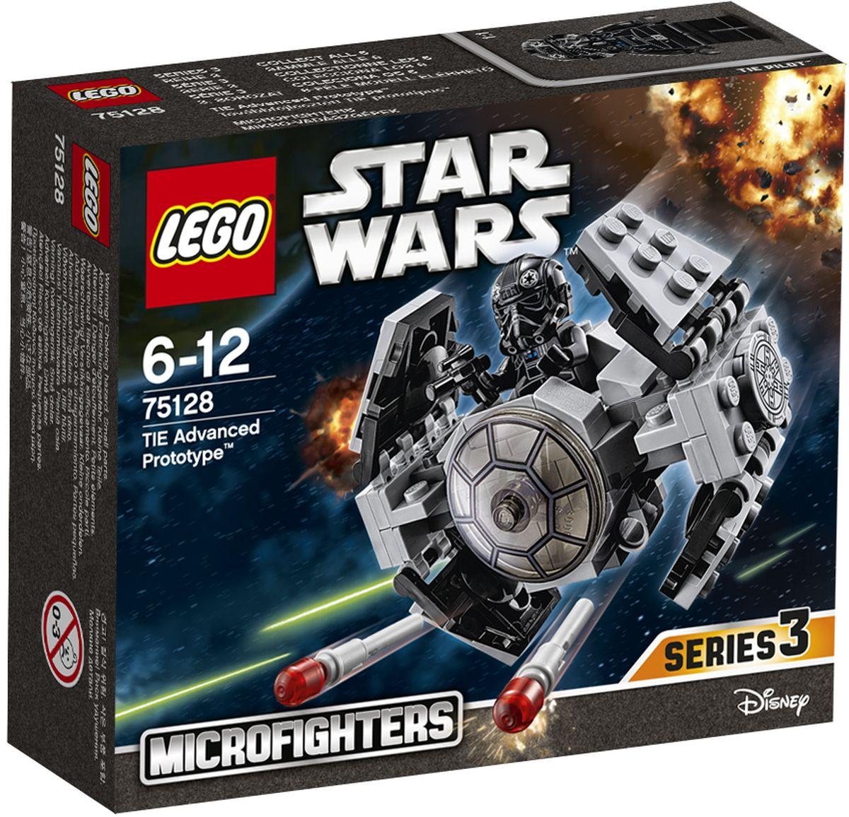 LEGO Star Wars Конструктор Усовершенствованный прототип истребителя TIE 7512875128Конструктор Lego Star Wars Усовершенствованный прототип истребителя TIE приведет в восторг любого поклонника знаменитой космической саги Звездные войны. Конструктор содержит 87 пластиковых элементов, с помощью которых вы сможете собрать оригинальную боевую машину из вселенной Звездных войн. Повстанцы рядом, и их нужно остановить! Разверни крылья усовершенствованного прототипа истребителя TIE и заряди ракеты. Затем посади пилота TIE в кабину и подготовь к запуску навстречу космическим приключениям. Все элементы набора выполнены из прочного безопасного пластика. Корабль стреляет небольшими снарядами, входящими в набор. Также в набор входит фигурка пилота TIE. Игры с конструкторами помогут ребенку развить воображение, внимательность, пространственное мышление и творческие способности. Такой конструктор надолго займет внимание малыша и непременно станет его любимой игрушкой.