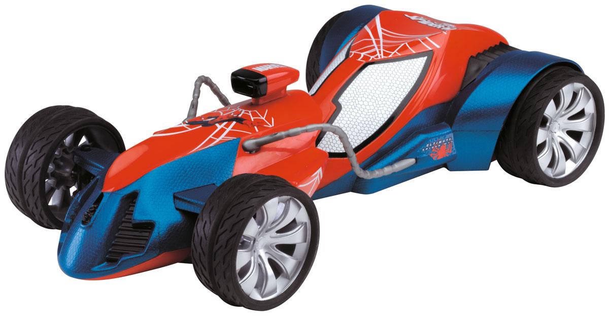 Majorette Машина на радиоуправлении Spider-Man цвет красный синий3089827Настало время для умопомрачительных высокоскоростных гонок, и машинка на радиоуправлении Majorette The Amazing Spider-Man идеально подходит для этого! С мощной машиной ваш малыш будет победителем в любой заезде со своими друзьями, а двухканальный пульт дистанционного управления позволит играть малышу сразу с двумя одинаковыми наборами. Задние колеса машины могут поворачиваться на 45°, делая поездку не только быстрой, но и маневренной. Машинка имеет обтекаемый пластиковый корпус и символику Человека-паука. Пульт выполнен в полукруглой эргономичной форме и снабжен жесткими держателями с двумя синими клавишами. Пульт управления работает на частоте 27 MHz. Для работы игрушки необходимы 5 батареек типа АА (товар комплектуется демонстрационными). Для работы пульта управления необходима 1 батарейка типа Крона (товар комплектуется демонстрационной).