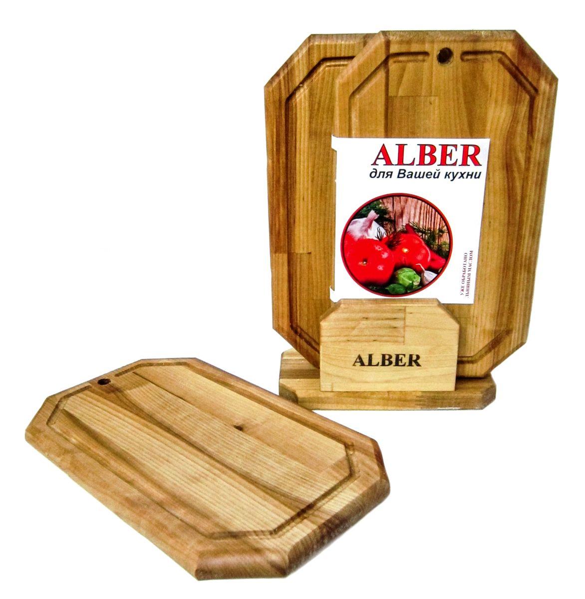 Набор досок разделочных малых Гайка в кассете (3 доски 300х180х18)0080050Прочные, гладкие, с естественной березовой текстурой, доски обработаны льняным маслом для предохранения от рассыхания. Изделия имеют индивидуальную пленочную упаковку и оригинальную гравировку - нельзя мыть деревянную доску в посудомоечной машине, а также оставлять надолго погруженной в воду; - после каждого использования нужно промыть доску мыльной водой, тщательно сполоснуть проточной водой и вытереть насухо; - хранить доски лучше в подвешенном состоянии или просто поставив вертикально; - новую сухую доску (если она не обработана) перед началом нужно смазать маслом; масло должно быть безопасным и устойчивым к порче при комнатной температуре (оптимальный вариант - льняное масло, в отличие от подсолнечного или оливкового, которые со временем портятся); повторять эту процедуру необходимо в среднем раз в месяц - по мере высыхания масла; - заменять разделочную доску на кухне рекомендуется 1 раз в год.