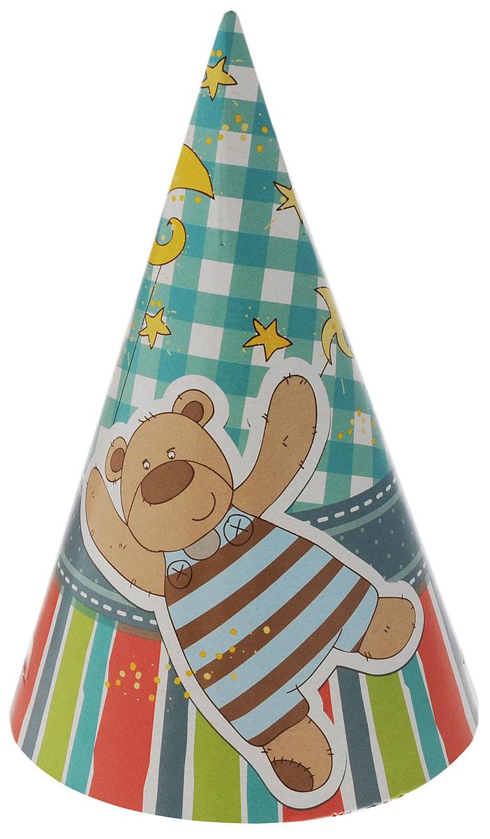 Веселая затея Колпак Я родился 6 шт1501-2562Колпак Веселая затея Я родился развеселит вас и ваших друзей в праздничный день. Колпак выполнен из картона ярких цветов и оформлен изображением мишки и зайчика, по 3 колпака с каждым рисунком. Имеет резинку для надежного крепления на подбородке. Почувствуйте волшебные минуты ожидания праздника, создайте праздничное настроение вашим дорогим и близким! В комплекте 6 колпаков.