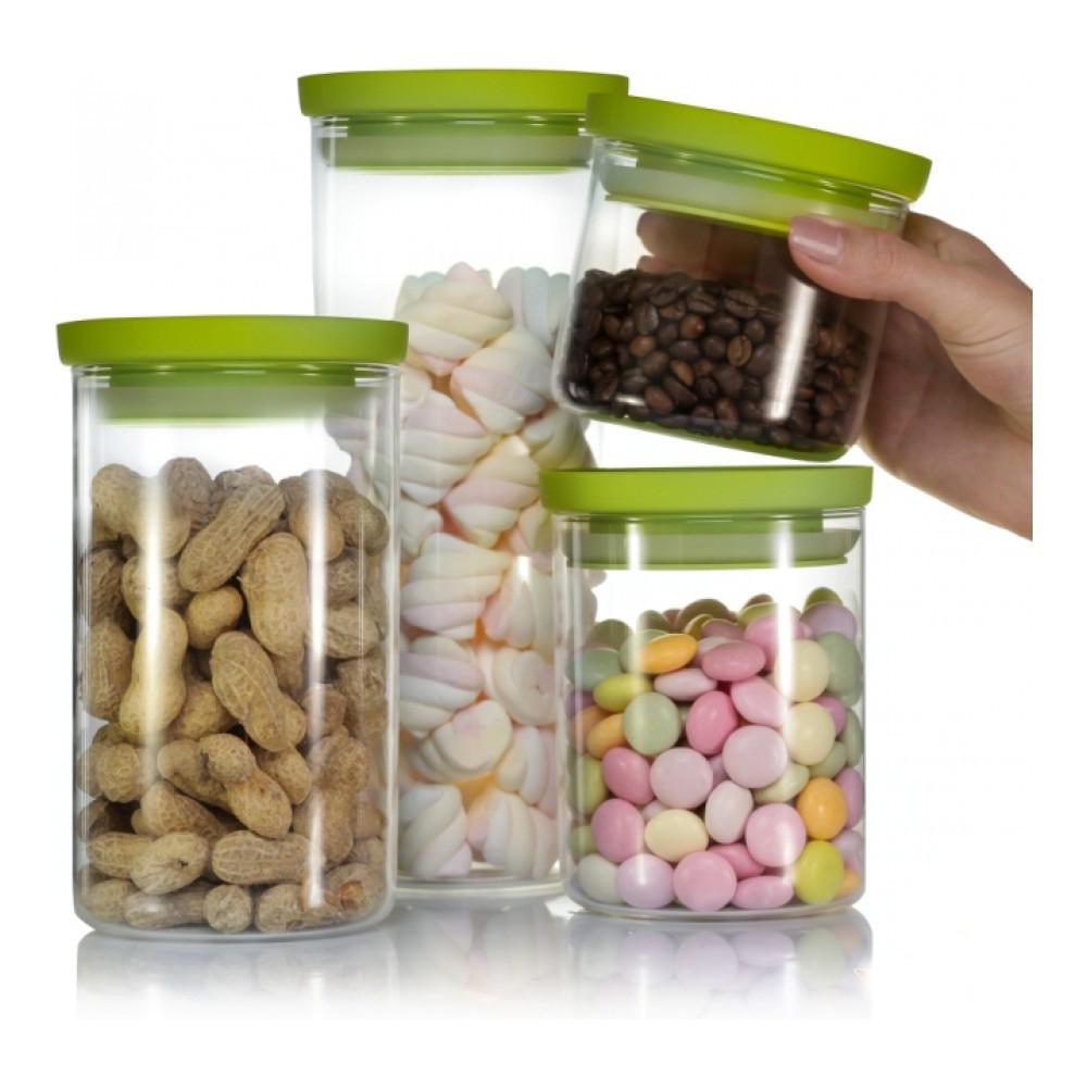 Банка для хранения Walmer Kristel, цвет: прозрачный, салатовый, 1,5 лW04101150Банка для хранения Walmer Kristel изготовлена из высококачественного стекла. Банка плотно закрывается пластиковой крышкой. Силиконовая прослойка обеспечивает герметичность и долгое хранение продуктов, а также защищает от попадания влаги. В такой банке удобно хранить сыпучие продукты, например, крупы, сахар, орехи, макароны или сухофрукты. Банка станет отличным дополнением к коллекции кухонных аксессуаров и поможет эффективно организовать пространство на кухне.