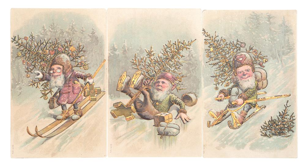 С Рождеством! Комплект из 3 открыток