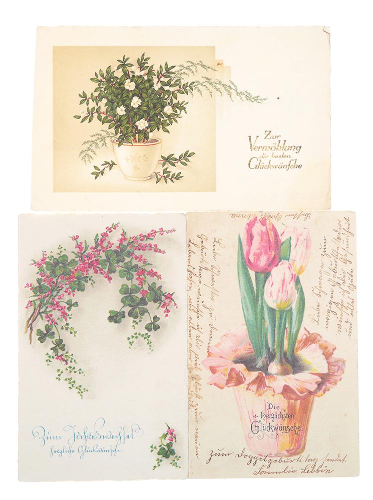 Сердечные пожелания! Комплект из 3 открыток