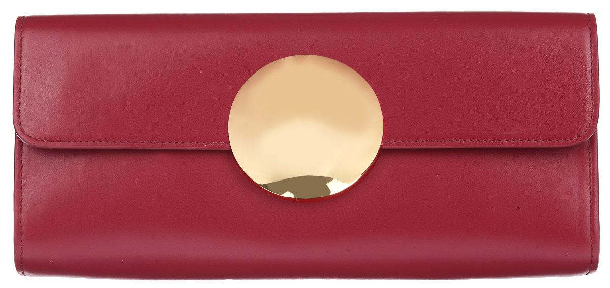 Сумка-клатч женская Leo Ventoni, цвет: красный. 2300403723004037-rossoСтильная сумка-клатч Leo Ventoni, выполнена из натуральной кожи, оформлена крупным декоративным элементом Изделие содержит одно основное отделение, которое закрывается клапаном на магнитный замок. Внутри сумки размещены два накладных кармана и врезной карман на молнии. Снаружи, на тыльной стороне сумки, расположен накладной карман. Сумка-клатч оснащена съемным плечевым ремнем регулируемой длины. Яркий аксессуар позволит вам завершить образ и быть неотразимой.