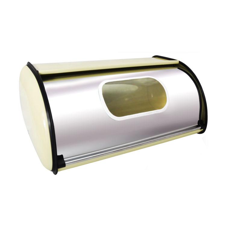 Хлебница Mayer & Boch, с окошком, 34 см х 22 см х 15 см4236Классическая хлебница Mayer&Boh, изготовленная из нержавеющей стали, поможет надолго сохранить ваш хлеб свежим. Крышка хлебницы, не занимает дополнительного места для открытия, легко и бесшумно открывается и закрывается. Верхняя часть хлебницы плоская, благодаря этому ее можно использовать в качестве полки для баночек. Также на крышке есть специальное прозрачное окошко из стекла. Яркий дизайн, эстетичность и функциональность сделают хлебницу превосходным аксессуаром на вашей кухне.