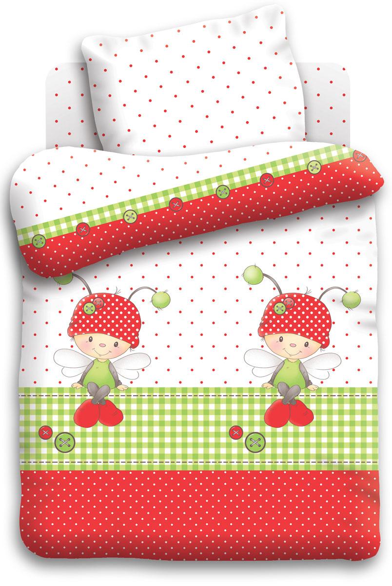 Непоседа Комплект детского постельного белья Божья коровка