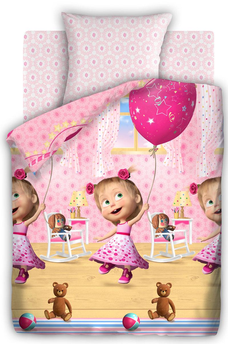 Маша и Медведь Комплект детского постельного белья День рождения 1,5-спальный314912Постельное белье Маша и Медведь День рождения выполнено из высококачественного хлопка. Комплект состоит из пододеяльника, простыни и наволочки. Предметы набора оформлены рисунком в виде Маши в праздничном платье. Изделия из хлопка обладают превосходными качествами, так как они отлично пропускают воздух, хорошо впитывают влагу - соответственно контролируют температуру тела, приятны на ощупь и комфортны, а главное полезны для здоровья.