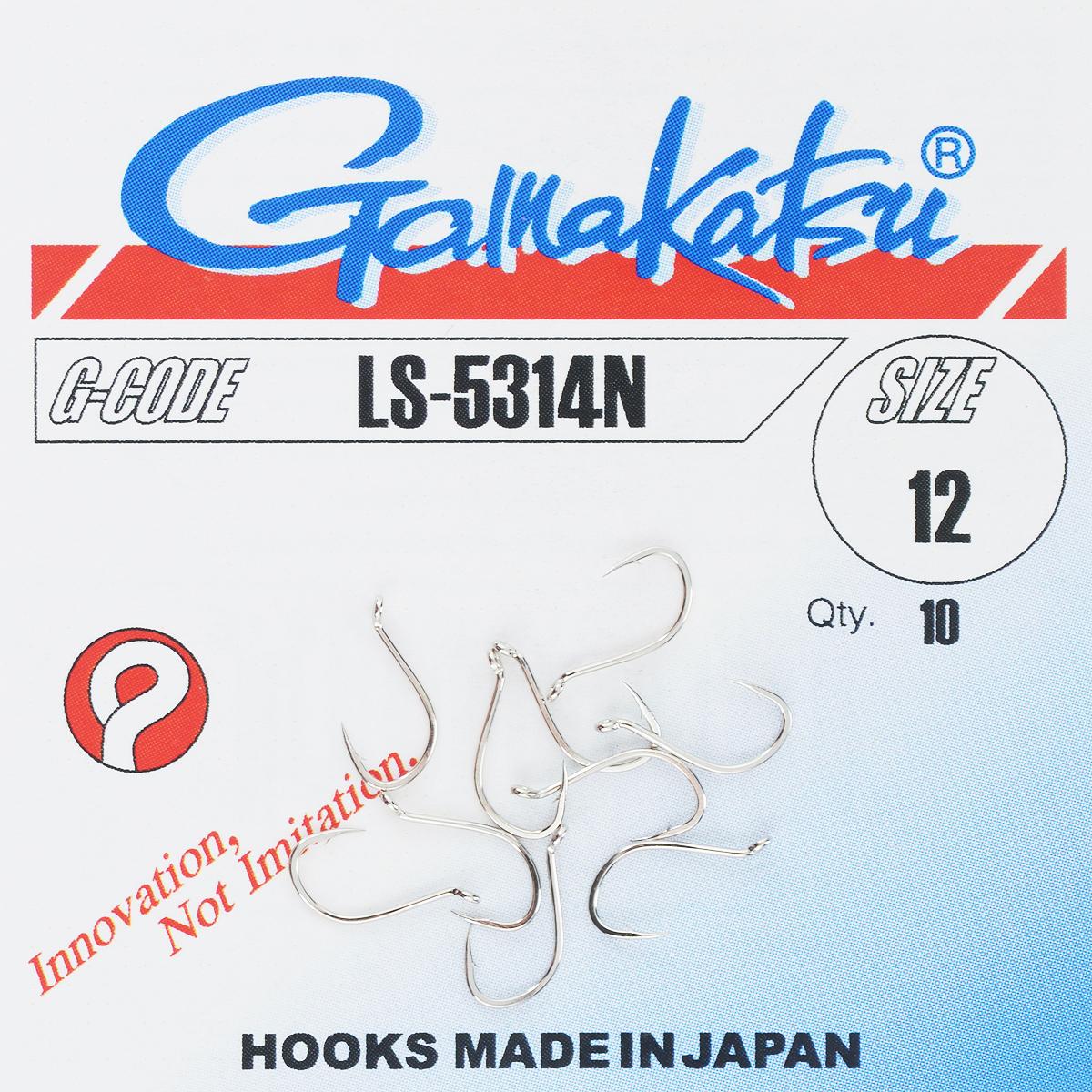 Набор крючков Gamakatsu, размер №12, 10 шт23042Gamakatsu - это одни из наиболее разносторонних крючков, известных своей прочностью и долговечностью. Крючки покрыты антикоррозионным покрытием, что делает их незаменимыми при ловле в соленой воде.