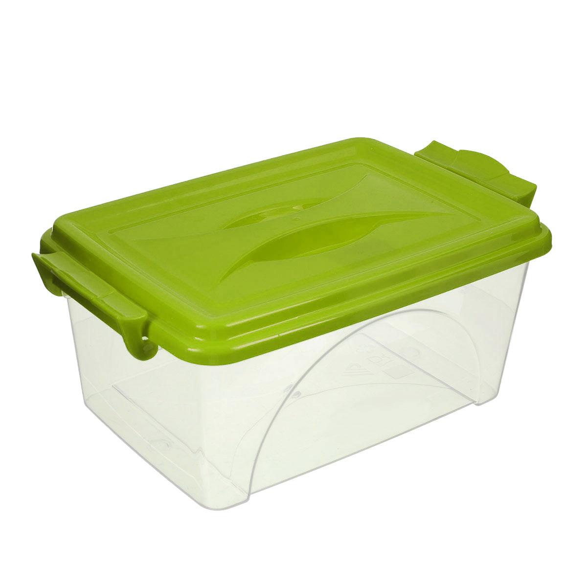 Контейнер Альтернатива, цвет: прозрачный, салатовый, 2,5 лМ421_салатовыйКонтейнер Альтернатива выполнен из прочного пластика. Он предназначен для хранения различных мелких вещей. Крышка легко открывается и плотно закрывается. Прозрачные стенки позволяют видеть содержимое. По бокам предусмотрены две удобные ручки, с помощью которых контейнер закрывается. Контейнер поможет хранить все в одном месте, а также защитить вещи от пыли, грязи и влаги. Размер с учетом крышки: 25 см х 16,5 см х 13,5 см. Размер без учета крышки: 24,5 см х 16,5 см х 10,5 см.
