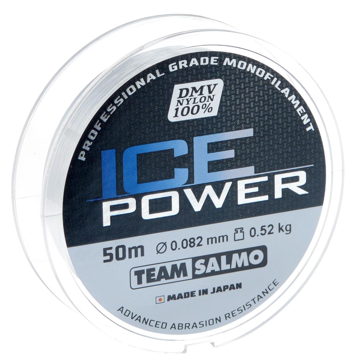 Леска монофильная Team Salmo Ice Power, сечение 0,082 мм, длина 50 мTS4924-008Team Salmo Ice Power - это леска последнего поколения, идеально калиброванная по всей длине, с точностью, определяемой до третьего знака. Материал, из которого изготовлена леска, обладает повышенной абразивной устойчивостью и не взаимодействует с водой, поэтому на морозе не теряет своих физических свойств, что значительно увеличивает срок ее службы. У лески отсутствует память, поэтому в процессе эксплуатации она не деформируется. Низкий коэффициент растяжимости делает леску максимально чувствительной, при этом она практически незаметна для рыбы. Леска производится использованием самого высококачественного сырья и новейших технологий.