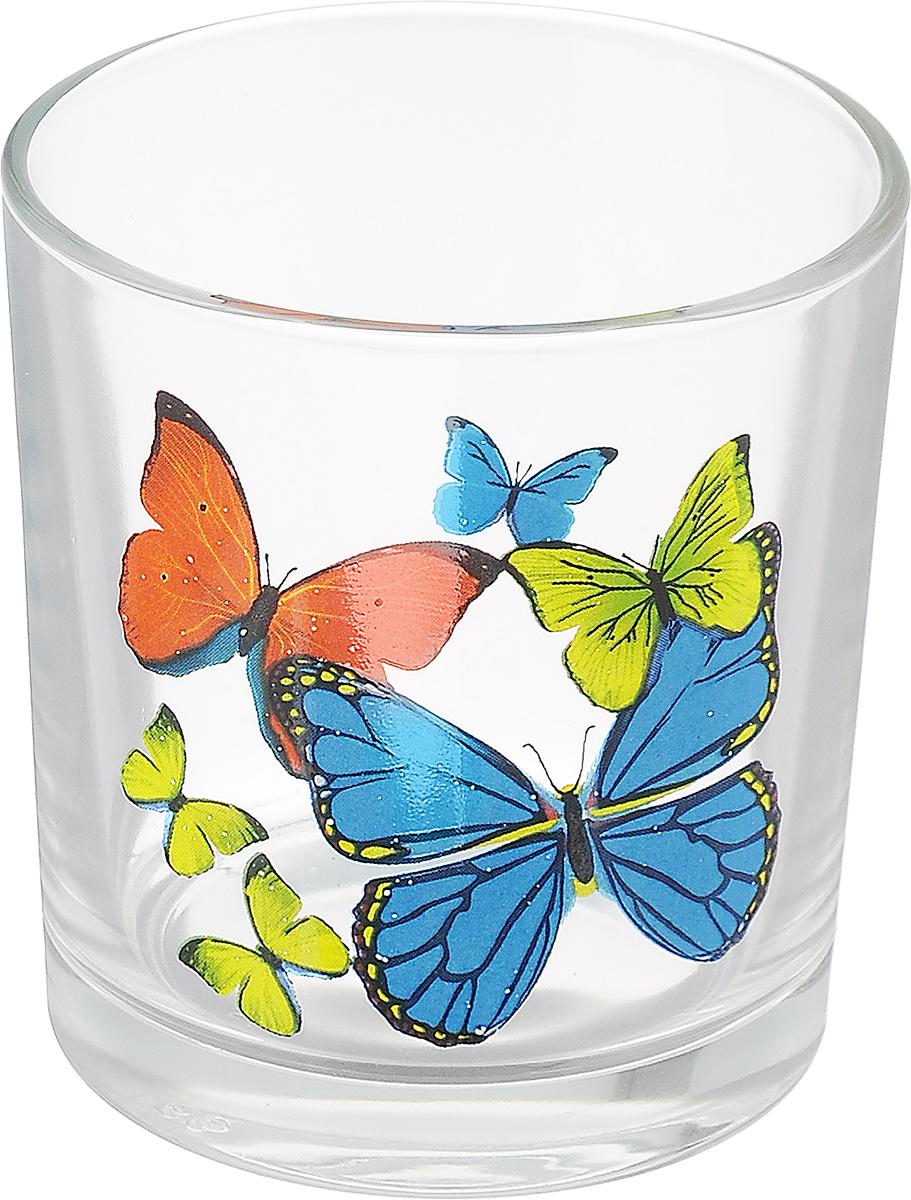 Стакан OSZ Танец бабочек, цвет: прозрачный, 250 мл05C1249 ДЗ ТБ МИКССтакан OSZ Танец бабочек изготовлен из бесцветного стекла и украшен ярким рисунком. Идеально подходит для сервировки стола. Стакан не только украсит ваш кухонный стол и подчеркнет прекрасный вкус хозяйки. Диаметр стакана (по верхнему краю): 8 см. Диаметр основания: 6 см. Высота стакана: 8,5 см.