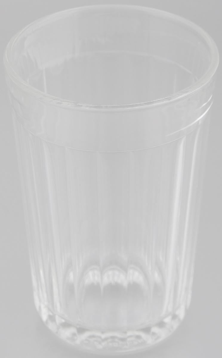Стакан граненый OSZ, 250 мл03с785Стакан граненый OSZ изготовлен из бесцветного стекла и украшен рельефными гранями. Идеально подходит для сервировки стола. Стакан не только украсит ваш кухонный стол и подчеркнет прекрасный вкус хозяйки. Диаметр стакана (по верхнему краю): 7 см. Диаметр основания: 5,5 см. Высота стакана: 11 см.