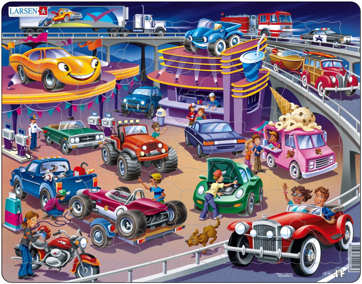 Larsen Пазл Машины US19US19Пазл Larsen Машины US19 со множеством ярких машинок понравится вашему малышу, и он захочет собрать большой пазл, чтобы увидеть их всех. Игра с пазлами благоприятно влияет на развитие ребенка. Веселая игра сопровождается манипуляциями с мелкими предметами, сопоставлением и сложением деталей. Развивается сенсорное восприятие, мелкая моторика. Логическое и абстрактное мышление задействовано во время собирания мозаики. Размер готового пазла: 36,5 см х 28,5 см.