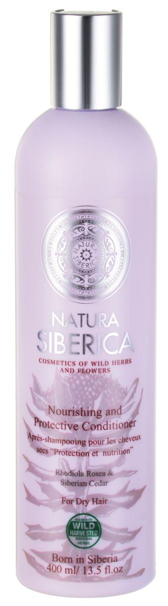 Бальзам Natura Siberica Защита и питание, для сухих волос, 400 мл086-30556Бальзам Natura Siberica Защита и питание предназначен для сухих волос. Не содержит лаурет сульфата натрия, парабенов и красителей. Родиола Розовая, или золотой корень, по своим защитным свойствам превосходит женьшень. Повышает устойчивость волос к повреждающим факторам внешней среды. Кедровое молочко - молочко молодости, содержит большое количество витамина Е, который активно стимулирует обновление клеток. Масло алтайской облепихи обладает уникальными питательными свойствами. В бальзам добавлены антиоксиданты, которые обеспечивают длительную защиту, и липопептиды, восстанавливающие структуру сухих волос. Характеристики: Объем: 400 мл. Производитель: Россия. Товар сертифицирован.