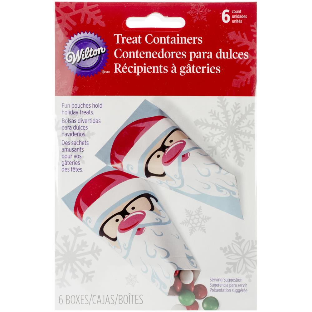 Набор бумажных пакетов для сладостей Wilton Санта, 6,5 х 12,5 см, 6 шт119044Набор Wilton Санта состоит из 6 бумажных пакетов для сладостей. Изделия украшены смешным изображением Санта Клауса с розовым носом и в очках. Такие пакеты прекрасно подойдут для драже и конфет M&MS. Сладости в красивой упаковке станут прекрасным дополнением к новогоднему подарку и вызовут радость у получателя.