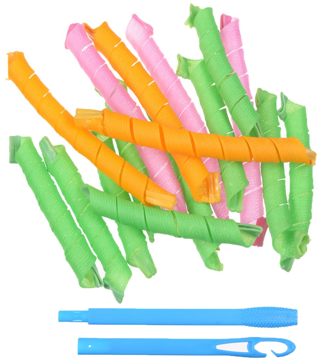 Hair Wavz Бигуди, 10 х 36 см, 6 х 51 смХВНабор бигуди Hair Wavz является простым и легким способом всегда выглядеть безупречно стильно! Предназначен для создания мелких кудряшек, локонов и волн, а также придания дополнительного объема. Бигуди произведены из мягкого полиметного материала, и в них можно спать. Hair Wavz выполнены из мягкого пластика с силиконовыми наконечниками, что позволяет им служить долго, подходят для кончиков и на длинные волосы, а также на каскадную стрижку. Ваша прическа зависит только от вашей фантазии и настроения! Преимущества волшебных бигуди Hair Wavz: Создают большой объем. Удобны и легки в использовании. Справится даже ребенок! Подходят как для коротких, так и для длинных волос. Позволяют легко контролировать направление и равномерность укладки без заломов. Обеспечивают бережное отношение к волосам. Смена имиджа за час. Процесс накручивания бигуди Hair Wavz никогда не утомит вас. Экономия времени и денег на дорогих салонах. ...