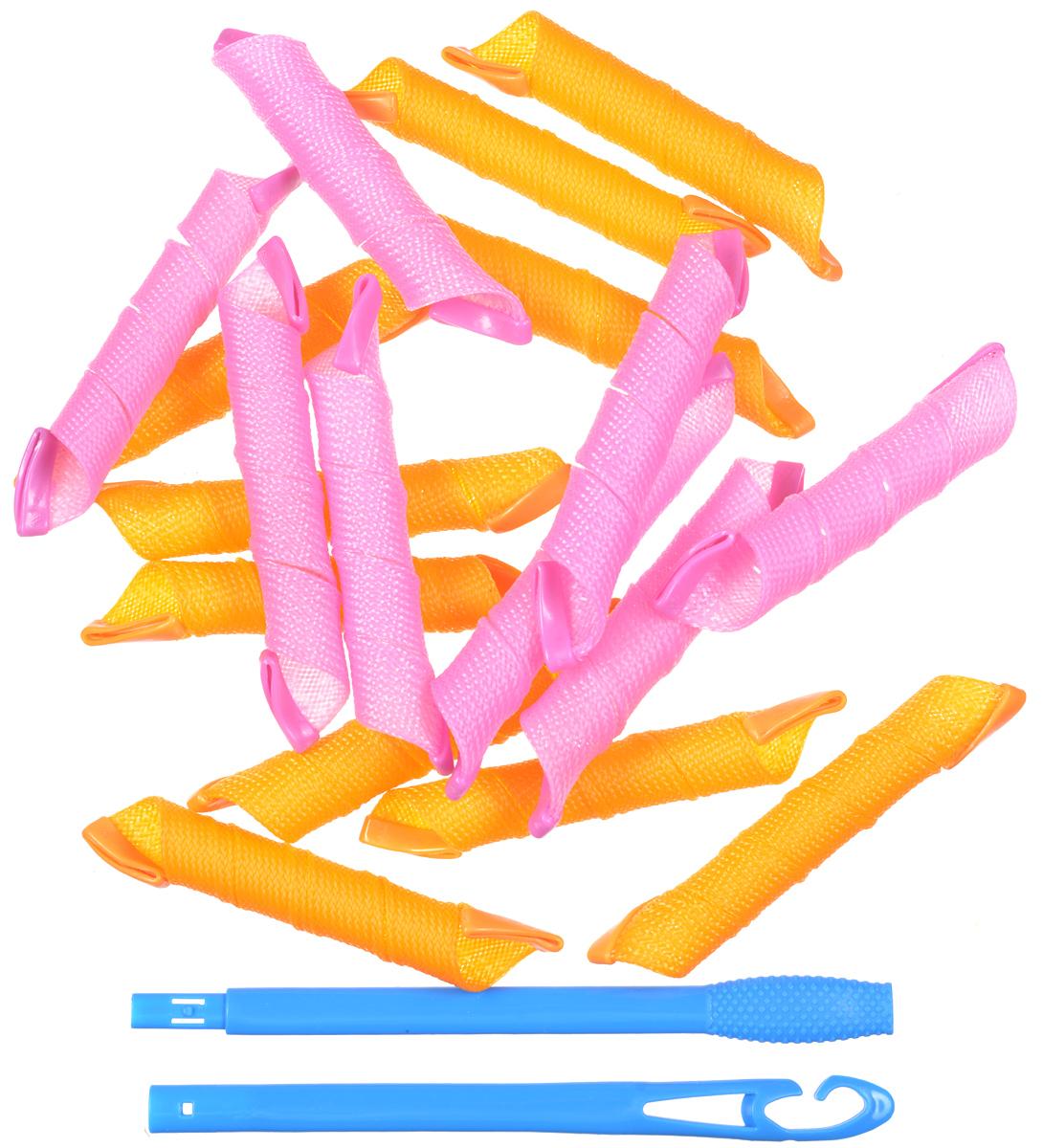 Magic Leverag Бигуди средние широкие, 18 х 29 смСр29Набор бигуди Magic Leverag является простым и легким способом всегда выглядеть безупречно стильно! Предназначен для создания мелких кудряшек, локонов и волн, а также придания дополнительного объема. Бигуди произведены из мягкого материала, и в них можно спать. Magic Leverag выполнены из мягкого пластика с силиконовыми наконечниками, что позволяет им служить долго, подходят для кончиков и на длинные волосы, а также на каскадную стрижку. Ваша прическа зависит только от вашей фантазии и настроения! Преимущества волшебных бигуди Magic Leverag: Создают большой объем. Удобны и легки в использовании. Справится даже ребенок! Подходят как для коротких, так и для длинных волос. Позволяют легко контролировать направление и равномерность укладки без заломов. Обеспечивают бережное отношение к волосам. Смена имиджа за час. Процесс накручивания бигуди Magic Leverag никогда не утомит вас. Экономия времени и денег...