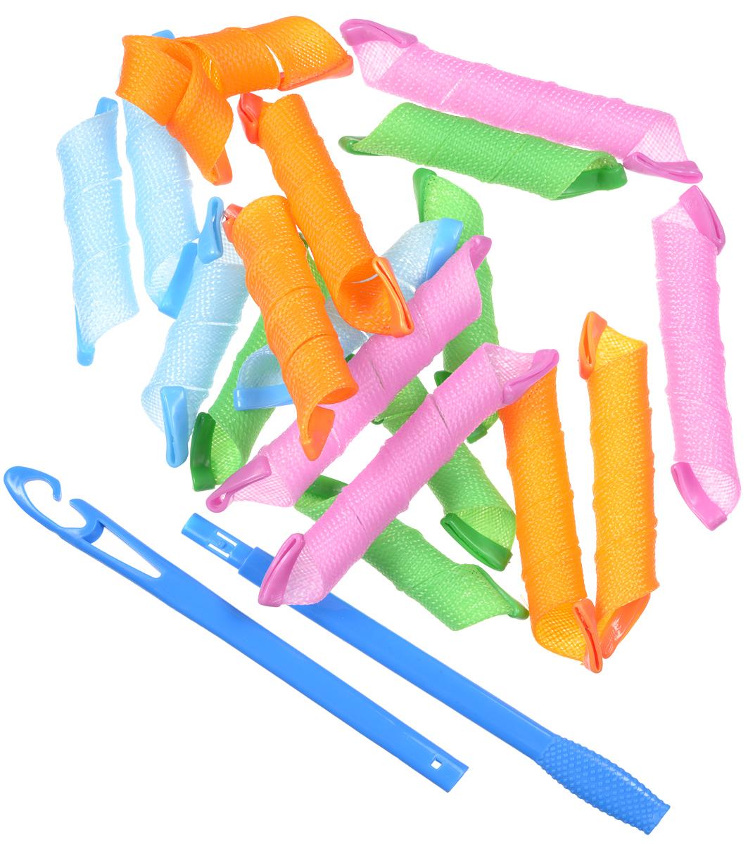 Magic Leverag Бигуди стандартные удлиненные, 9 х 19 см, 9 х 29 смБуНабор бигуди Magic Leverag является простым и легким способом всегда выглядеть безупречно стильно! Предназначен для создания мелких кудряшек, локонов и волн, а также придания дополнительного объема. Бигуди произведены из мягкого материала, и в них можно спать. Magic Leverag выполнены из мягкого пластика с силиконовыми наконечниками, что позволяет им служить долго, подходят для кончиков и длинных волос, а также на каскадную стрижку. Ваша прическа зависит только от вашей фантазии и настроения! Преимущества волшебных бигуди Magic Leverag: Создают большой объем. Удобны и легки в использовании. Справится даже ребенок! Подходят как для коротких, так и для длинных волос. Позволяют легко контролировать направление и равномерность укладки без заломов. Обеспечивают бережное отношение к волосам. Смена имиджа за час. Процесс накручивания бигуди Magic Leverag никогда не утомит вас. Экономия времени и денег на дорогих салонах. ...