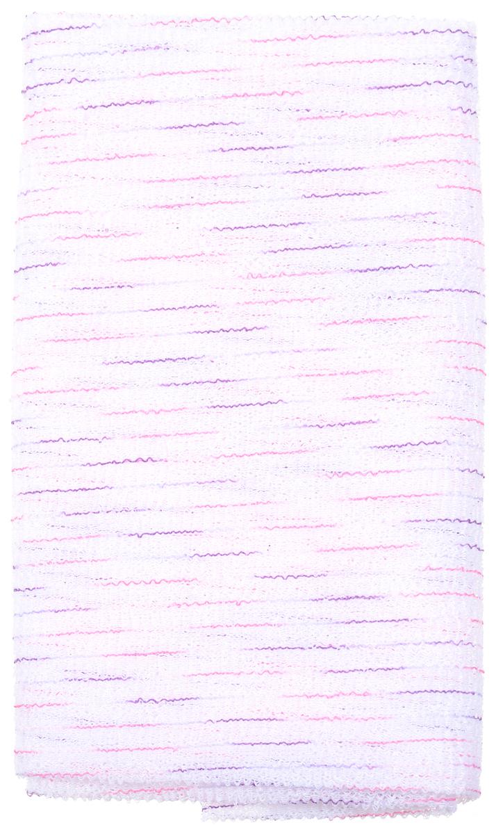 SungBo Мочалка для душа Clean&Beauty Noble, 28 см х 95 см, цвет: белый, розовый, фиолетовыйУТ000000672_белый, розовый, фиолетовыйБлагодаря оригинальной вязке из гофрированного волокна мочалка для душа создает одновременно как ощущение мягкости, так и ощущение пилинга, нежно отшелушивая огрубевшую кожу. Шероховатая текстура стимулирует циркуляцию крови по всему телу и помогает сохранить здоровье и упругость кожи. Мочалка позволяет получать обильную пену, используя небольшое количество геля для душа. Ее легко мыть, и она быстро сохнет. Высококачественное волокно обеспечивает долговечность. Яркий цвет и изысканный вид подарят вам отличное настроение и ощущение свежести. Товар сертифицирован.
