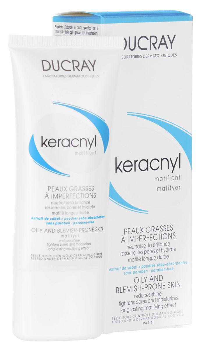 Ducray Матирующая эмульсия Keracnyl 30 млC27194Матирующая эмульсия для жирной проблемной кожи предназначена для ежедневного ухода за кожей. Способствует уменьшению раздражения и препятствованию размножения бактерий на поверхности кожи. Матирующая эмульсия устраняет жирный блеск, нормализует выработку себума, препятствуя размножению бактерий. Матирующая эмульсия придает эстетический вид коже лица, устраняет прыщи и черные точки, уменьшает раздражение кожи, сохраняя привлекательность надолго. Продолжительный контроль за блеском, заметное сужение пор, увлажнение