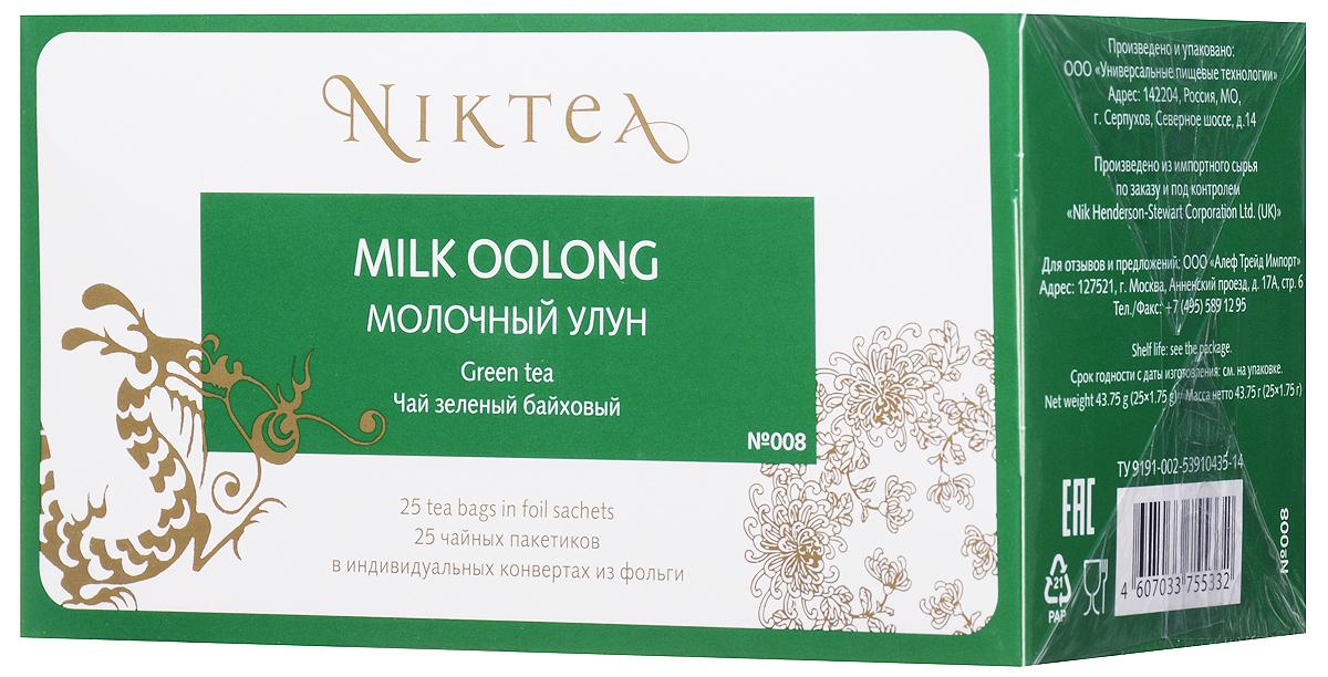 Niktea Milk Oolong чай зеленый в пакетиках, 25 штTALTHA-BP0015Niktea Milk Oolong - необычный полуферментированный чай с долгим сливочным послевкусием и многогранным, глубоким медово-цветочным букетом. NikTea следует правилу качество чая - это отражение качества жизни и гарантирует: Тщательно подобранные рецептуры в коллекции топовых позиций-бестселлеров. Контролируемое производство и сертификацию по международным стандартам. Закупку сырья у надежных поставщиков в главных чаеводческих районах, а также в основных центрах тимэйкерской традиции - Германии и Голландии. Постоянство качества по строго утвержденным стандартам. NikTea - это два вида фасовки - линейки листового и пакетированного чая в удобной технологичной и информативной упаковке. Чай обладает многофункциональным вкусоароматическим профилем и подходит для любого типа кухни, при этом постоянно осуществляет оптимизацию базовой коллекции в соответствии с новыми тенденциями чайного рынка. Фильтр-бумага для пакетированного...