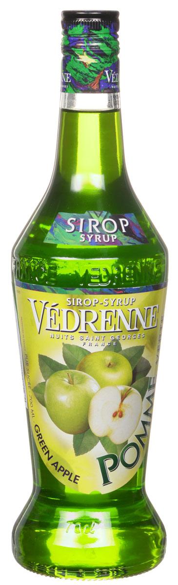 Vedrenne Зеленое Яблоко сироп, 0,7 лSVDRPV-070B01Сироп Зеленое яблоко обладает насыщенным свежим ароматом душистых зеленых яблок. Аппетитная густая консистенция окрашена в ярко-зеленый красивый цвет. Сиропы изготавливаются на основе натурального растительного сырья, фруктовых и ягодных соков прямого отжима, цитрусовых настоев, а также с использованием очищенной воды без вредных примесей, что позволяет выдержать все ценные и полезные свойства натуральных фруктово-ягодных плодов и трав. В состав сиропов входит только натуральный сахар, произведенный по традиционной технологии из сахарозы. Благодаря высокому содержанию концентрированного фруктового сока, сиропы Vedrenne обладают изысканным ароматом и натуральным вкусом, являются эффективным подсластителем при незначительной калорийности. Они оптимизируют уровень влажности и процесс кристаллизации десертов, хорошо смешиваются с другими ингредиентами и способствуют улучшению вкусовых качеств напитков и десертов. Сиропы Vedrenne разливаются в стеклянные бутылки с...
