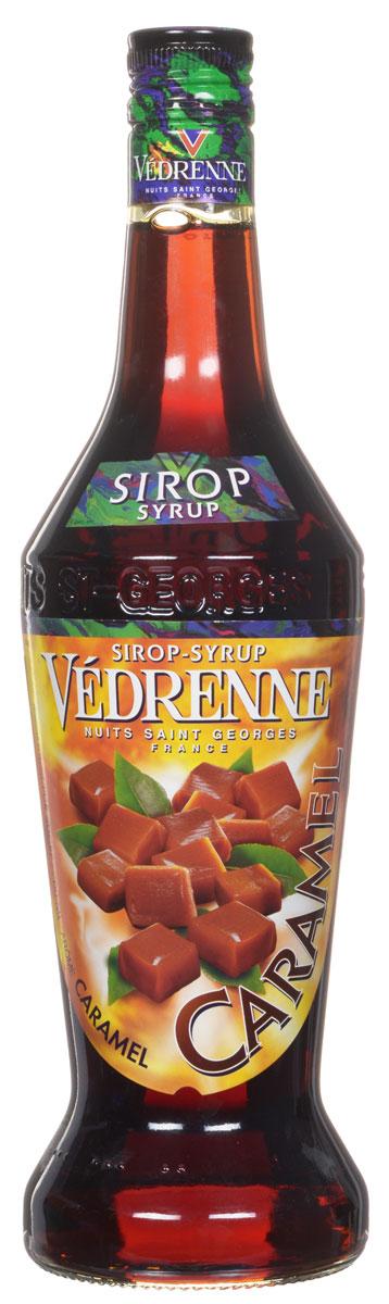 Vedrenne Карамель сироп, 0,7 лSVDRCA-070B01Сироп Карамель — это универсальная вкусовая добавка, использующаяся для ароматизации различных сладких блюд и напитков. Карамельный сироп традиционно производится на основе сахара и очищенной питьевой воды, что делает его натуральным ароматизатором. У него красивый янтарный цвет и классический сладковатый букет с тонами карамели и жженого сахара. Сиропы изготавливаются на основе натурального растительного сырья, фруктовых и ягодных соков прямого отжима, цитрусовых настоев, а также с использованием очищенной воды без вредных примесей, что позволяет выдержать все ценные и полезные свойства натуральных фруктово-ягодных плодов и трав. В состав сиропов входит только натуральный сахар, произведенный по традиционной технологии из сахарозы. Благодаря высокому содержанию концентрированного фруктового сока, сиропы Vedrenne обладают изысканным ароматом и натуральным вкусом, являются эффективным подсластителем при незначительной калорийности. Они оптимизируют уровень влажности и...