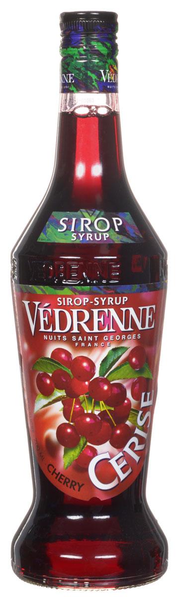 Vedrenne Вишня сироп, 0,7 лSVDRCE-070B01Сироп Вишня является настоящей классикой в сфере миксологии, так как он сочетается практически с любыми напитками и сладкими блюдами. Главными компонентами сиропа являются очищенная вода, сгущенный раствор сахара и натуральное ягодное сырье (вишневый сок или пюре), прошедшее соответствующую обработку. Сиропы изготавливаются на основе натурального растительного сырья, фруктовых и ягодных соков прямого отжима, цитрусовых настоев, а также с использованием очищенной воды без вредных примесей, что позволяет выдержать все ценные и полезные свойства натуральных фруктово-ягодных плодов и трав. В состав сиропов входит только натуральный сахар, произведенный по традиционной технологии из сахарозы. Благодаря высокому содержанию концентрированного фруктового сока, сиропы Vedrenne обладают изысканным ароматом и натуральным вкусом, являются эффективным подсластителем при незначительной калорийности. Они оптимизируют уровень влажности и процесс кристаллизации десертов, хорошо...