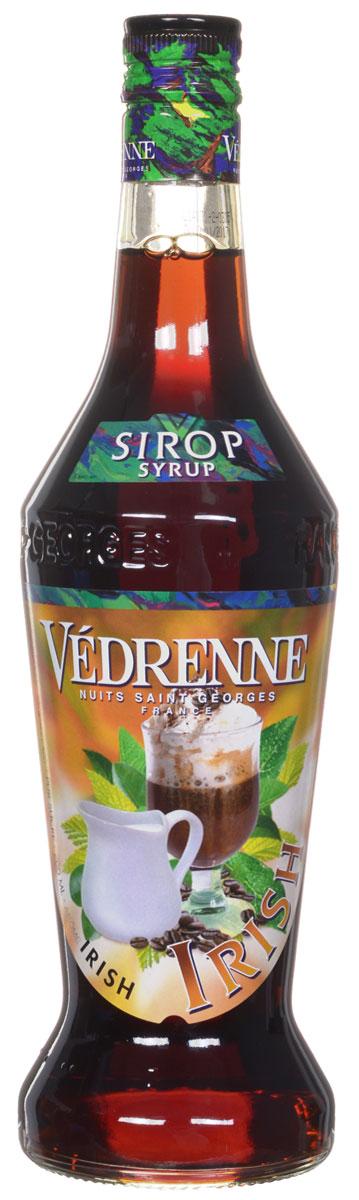 Vedrenne Айриш Крим сироп, 0,7 лSVDRIC-070B01Сироп Vedrenne Ирландский крем придется по душе поклонникам пикантных вкусов. Данный продукт характеризуется очаровательным ароматом с тонами темного шоколада, карамели, кофе и ненавязчивым мотивом ирландского виски. Во вкусе сиропа вы различите превосходные оттенки сливок, пралине, меда и орехов, которые развиваются на фоне ярких шоколадных нот. Благодаря оптимальному содержанию сахара, французский сироп Vedrenne Ирландский крем имеет приятную тягучую структуру, что позволяет использовать его в качестве украшения для различных сладких блюд и кондитерских изделий. Особенно привлекательные вкусовые сочетания можно получить путем данного добавления сиропа в горячий кофе или молочные коктейли. Сиропы изготавливаются на основе натурального растительного сырья, фруктовых и ягодных соков прямого отжима, цитрусовых настоев, а также с использованием очищенной воды без вредных примесей, что позволяет выдержать все ценные и полезные свойства натуральных ...