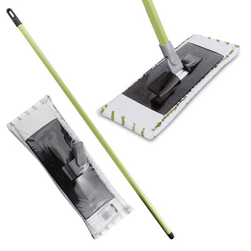 Швабра Centi, цвет: салатовый, белый8116Швабра Centi предназначена для сухой и влажной уборки в доме. Швабра удобна в использовании благодаря подвижному креплению ручки к моющей платформе с насадкой. Сменная насадка выполнена из полимера, которая впитывает воду и грязь подобно губке. Такая насадка позволит вам использовать во время уборки меньшее количество чистящих средств. Насадка из полимера легко удаляет пыль, не оставляя разводов и ворсинок. Она подходит для всех видов гладких полов из плитки, паркета, ламината и камня. Швабра оснащена специальной петлей, благодаря которой швабру можно подвесить в любом удобном месте. Платформа швабры выполнена из высокопрочного пластика. Платформа может двигаться под любым углом, на любой плоскости. Подвижная платформа позволяет вымыть полы, не отодвигая крупногабаритную мебель, протереть стены от пыли за шкафами. Длина ручки: 113 см. Размер насадки: 41 см х 15 см.
