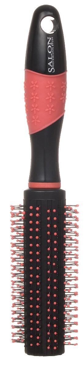 Salon Professional Расческа круглая, цвет: коралловый. 337-9800HQI337-9800HQIКруглая расческа Salon Professional выполнена из термостойкого пластика с пластиковыми антистатическими зубцами и предназначена для укладки волос. Подходит для сушки феном средних и длинных волос. Обладает улучшенным массажным эффектом и стимулирует рост волос. Обеспечивает бережный уход за волосами. Оригинальный и яркий дизайн подчеркнет вашу индивидуальность. Длина зубца: 0,5 см. Товар сертифицирован.