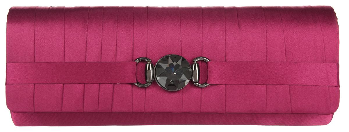 Клатч Fabretti, цвет: светло-бордовый. WD70638-93WD70638-93 burgundyЭлегантный вечерний клатч Fabretti выполнен из полиэстера. Клатч дополнен декоративным элементом из стали, который оформлен граненым кристаллом. Изделие содержит одно отделение и закрывается клапаном на магнитную кнопку. Внутри расположен накладной карман. Клатч оснащен укороченным наплечным ремнем-цепочкой. Клатч Fabretti прекрасно завершит ваш праздничный образ.